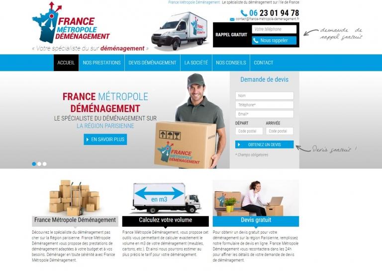 Lancement du tout nouveau site web pour France Métropole Déménagement